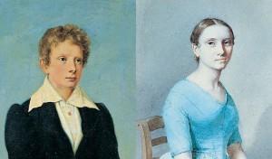 Guglielmo e Albertina, i primi due figli di Maria Luigia e Adam Albert von Neipperg