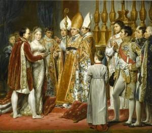Le nozze al Louvre. Dipinto di Georges Rouget