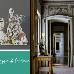 Biglietti visita Piano Nobile e mostra Le Porcellane dei Duchi di Parma Capolavori delle grandi manifatture del '700 europeo